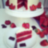 Strawberry Red Velvet Cake