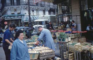 "Photo: W, Roger. ""Paris - Les Halles."" Flickr.com, Paris, 11 May 1960"