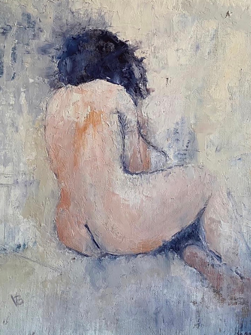 'The Stillness, Still' Oil and Cold Wax on Linen Board 40x40cm