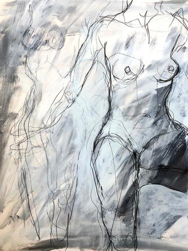"'Sonnentanz' Mixed Media on Paper Framed 16x22"""