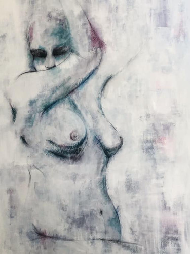 """'Profiles of Grace' Mixed Media on Canvas Unframed 24x36"""" *SOLD*"""