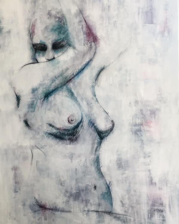 """'Profiles of Grace' Mixed Media on Canvas Unframed 24x36"""""""