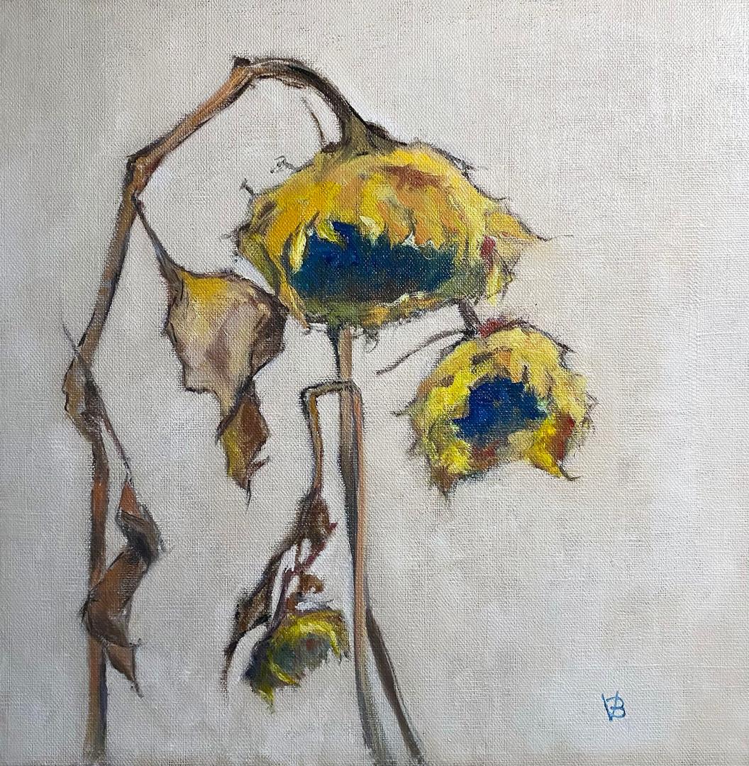 Homage á Schiele Oil on Linen Board 30x30cm *SOLD*