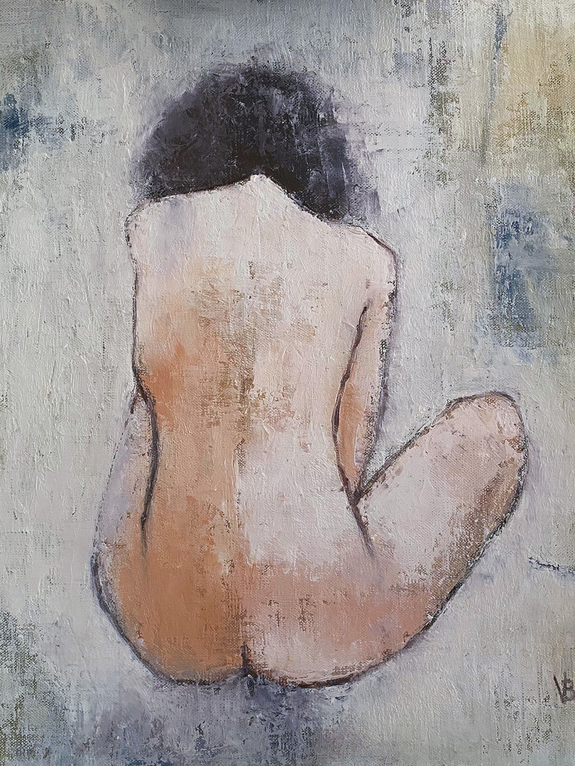 'She Just Wants To Be' Oil and Cold Wax on Linen Board 40x40cm