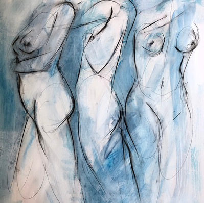 """'Divisions of Grace' Mixed Media on Paper Framed 20x24"""" *SOLD*"""