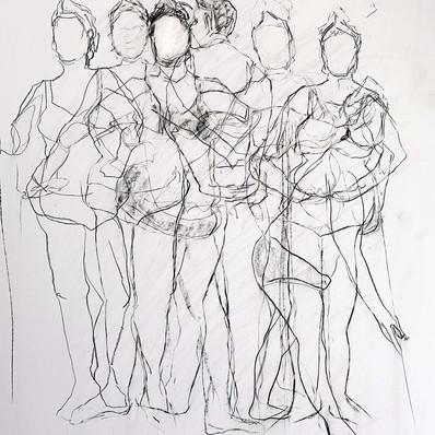 JSSession I. Charcoal on paper 42 x 59cm