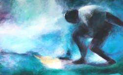Surfer in einer Welle