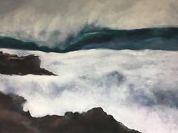 Welle an der Küste