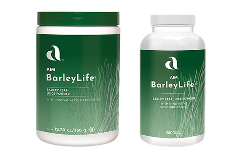 AIM BarleyLife® (powder and capsule varieties)