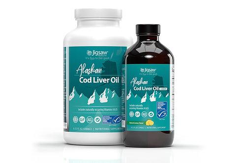 Jigsaw Alaskan Cod Liver Oil™  240ml (liquid and softgel options)