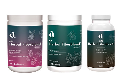 AIM Herbal Fiberblend®  (raspberry, unflavoured and capsule varieties)
