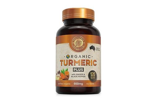 Organic Turmeric Plus 120 capsules