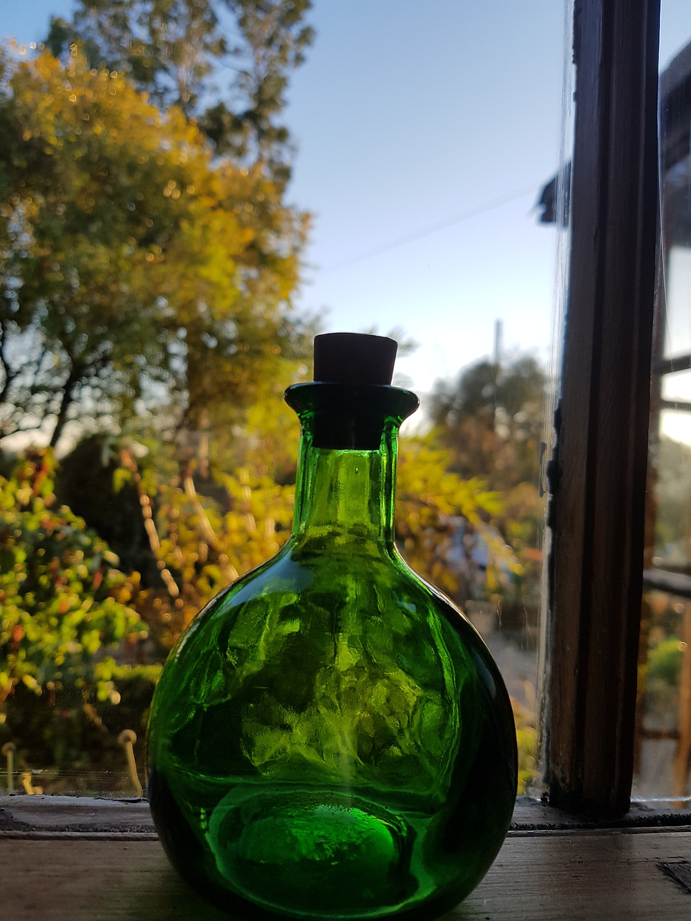 This bottle lives in my mentor's blending room. It brings me a lot of joy to see the light shine through it.