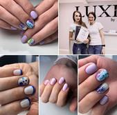 Работы студентки Ольги ❤️ с Базового курса _Комби маникюр и работа с гелями Luxio_💅🏻💯👌🏻