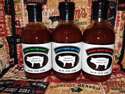 All 3 BBQ Sauces