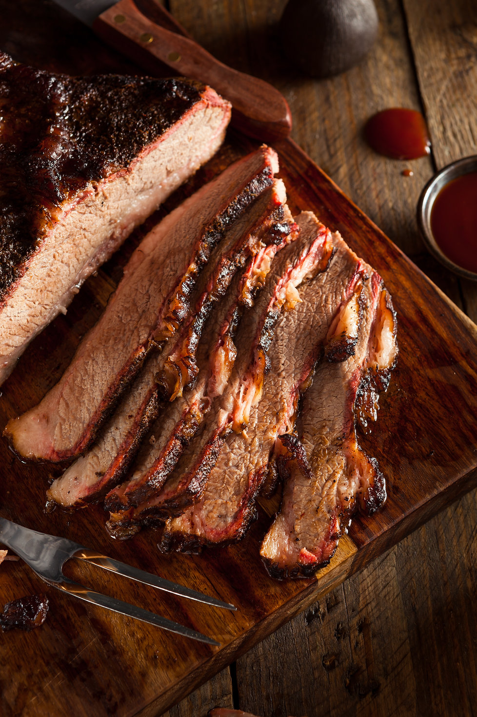 Homemade Smoked Barbecue Beef Brisket wi