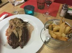 Shallots Hanger Steak& Fries