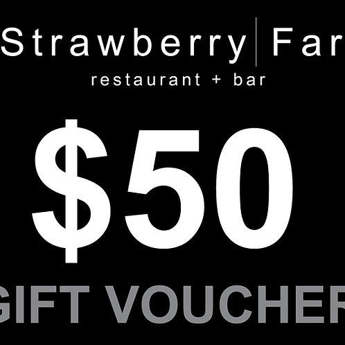 Restaurant Voucher $50.00