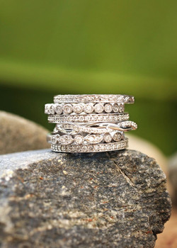 stacked on rock