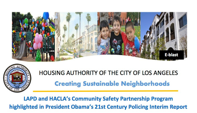 LAPD and HACLA's Community Safety Partnership Program highlighted in President Obama's 21st Century