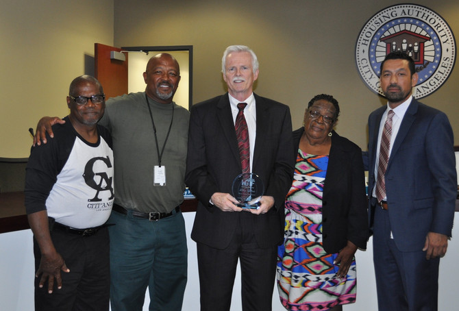CEO and President Douglas Guthrie Receives Unsung Hero Award from Watts Gang Task Force