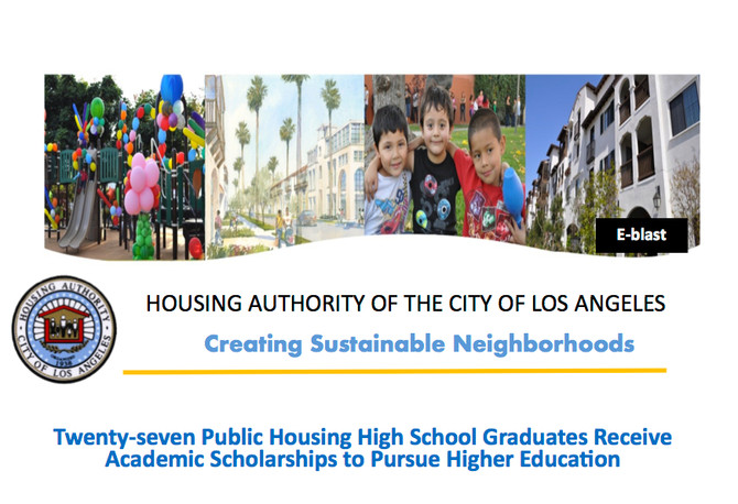 Twenty-seven Public Housing High School Graduates Receive Academic Scholarships to Pursue Higher Edu