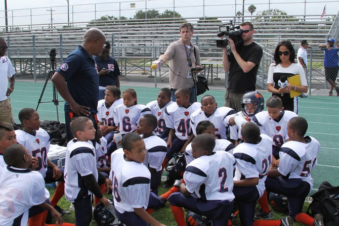 NBC - LAPD Officers Coach Youth Football Team in Watts