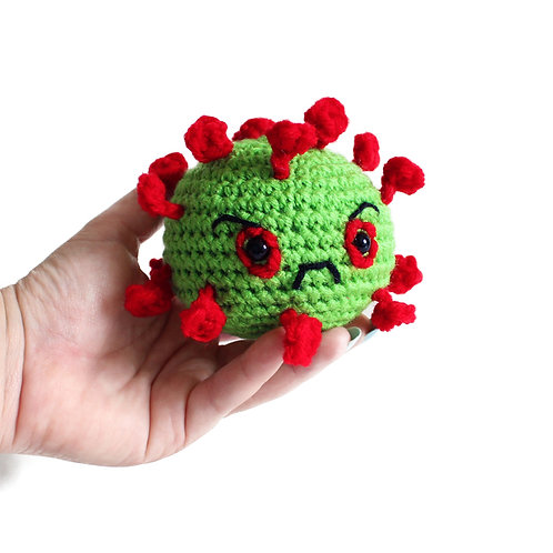 Angry coronavirus stress and anxiety relief ball