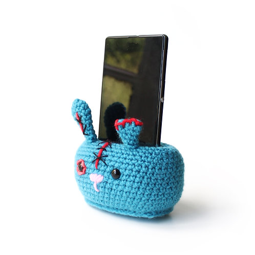 Zombie bunny phone stand