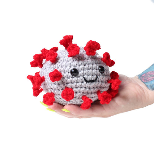 Happy coronavirus stress and anxiety relief ball