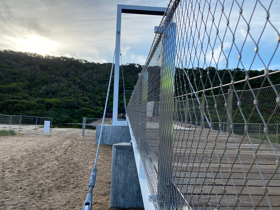 Stainless steel mesh installation Port Campbell, Bespoke Wire & Rope