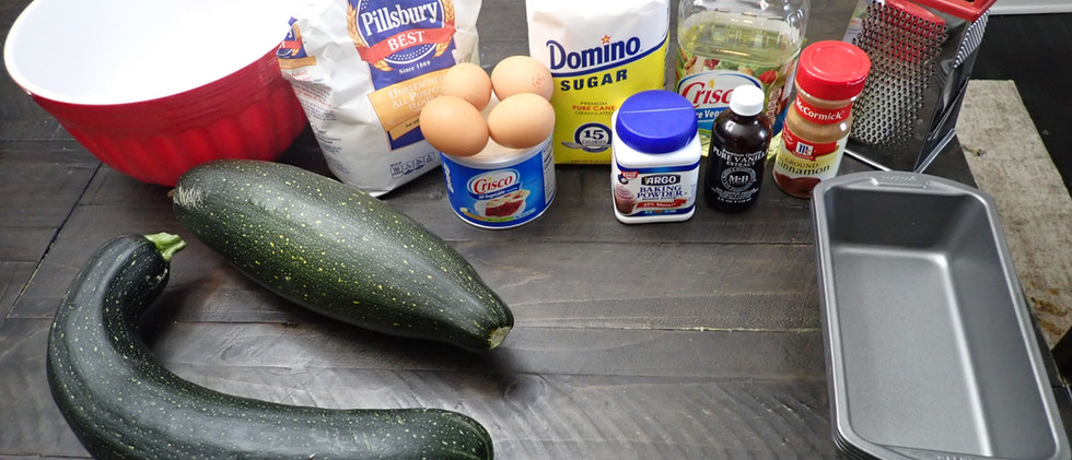 Making Zucchini Bread