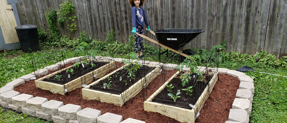 Stone Border DIY Raised Garden Bed