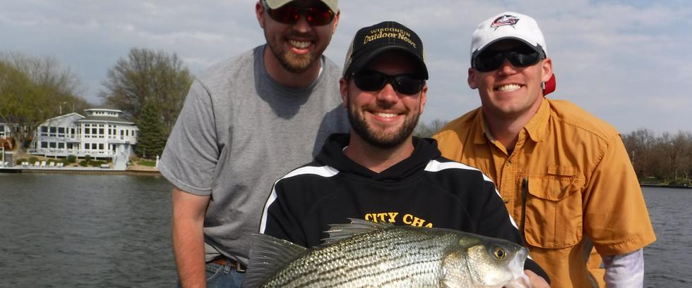 Hybrid Striped Bass Fishing