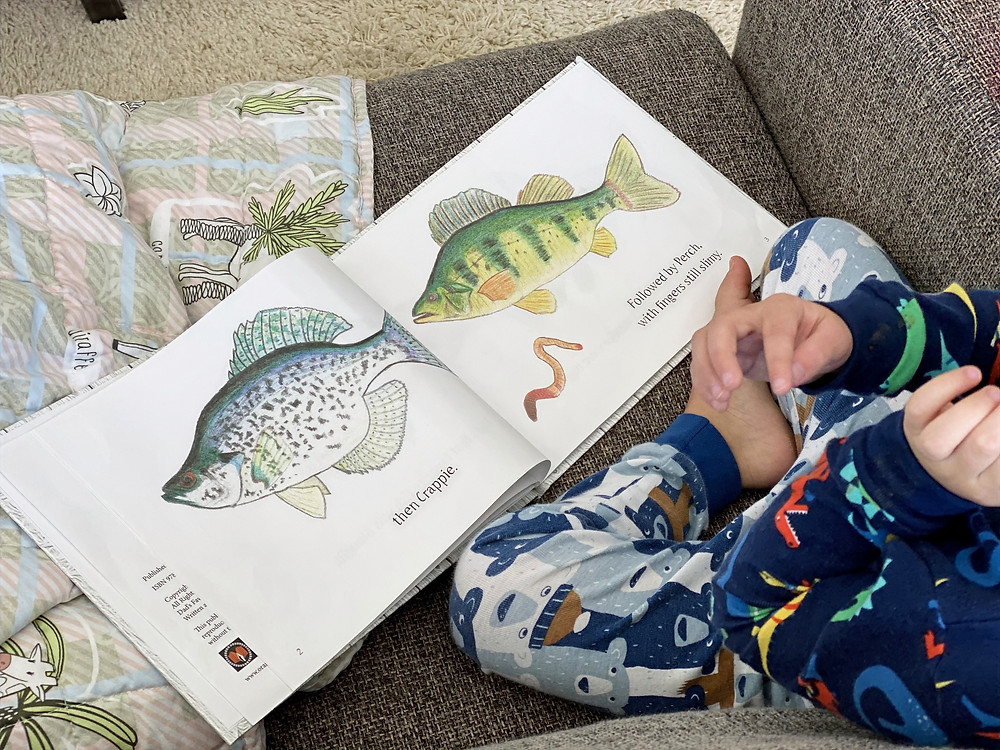 Reading Dad's Favorite Fish with children