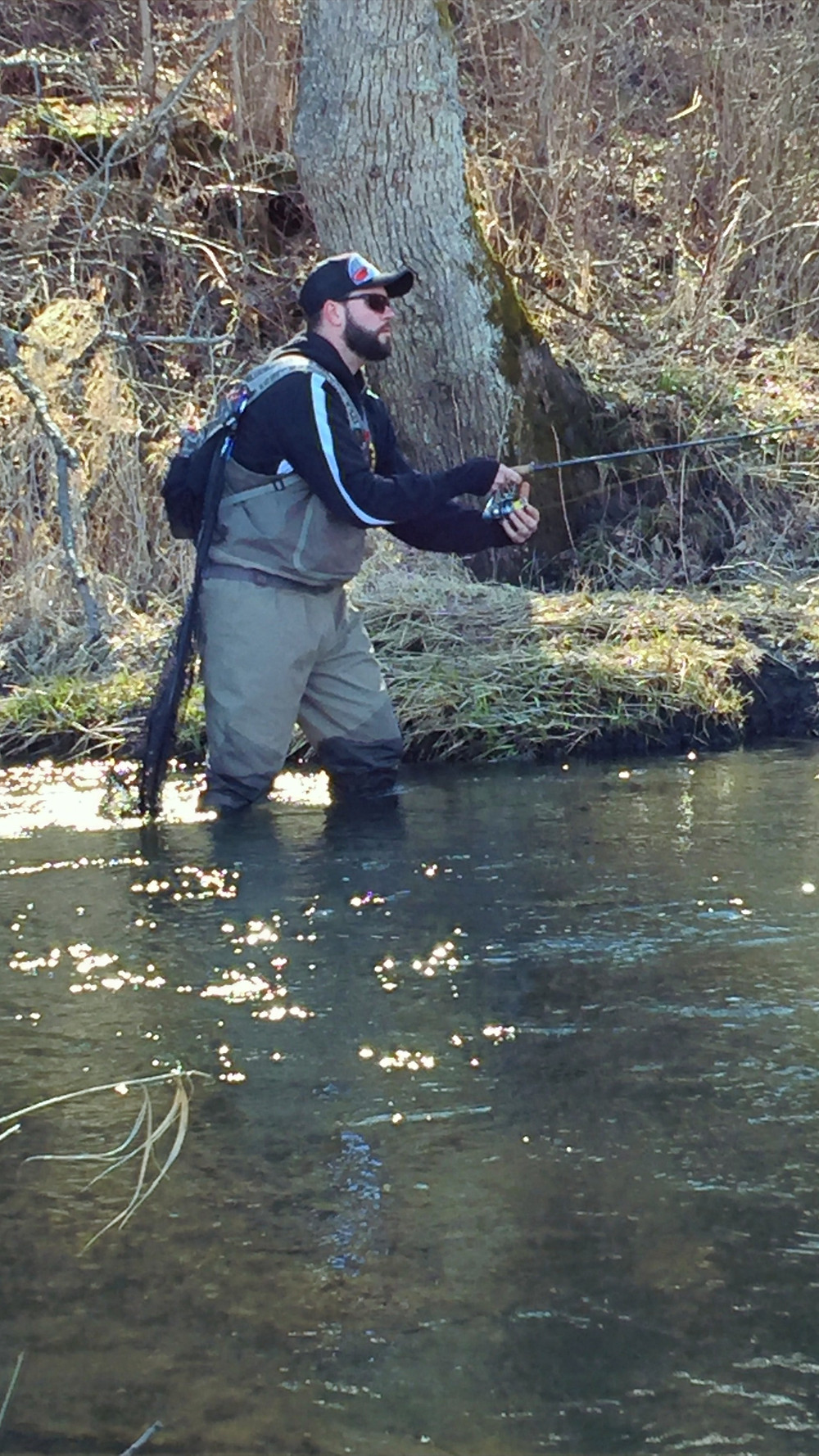 Trout stream wading
