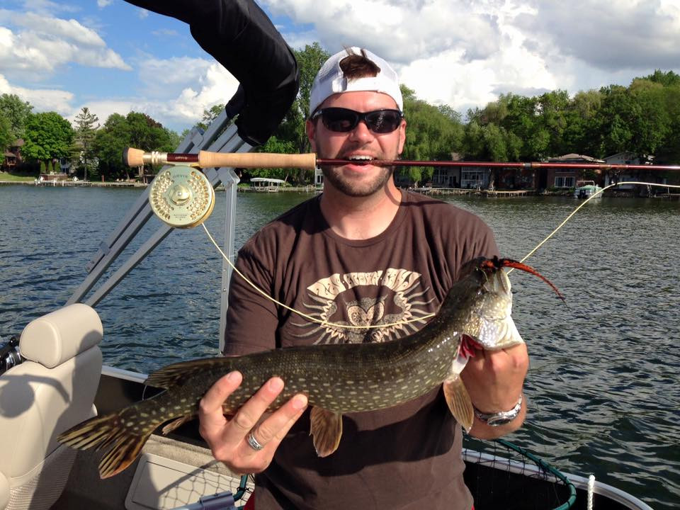 Northern Pike on the fly using a homemade fly pattern