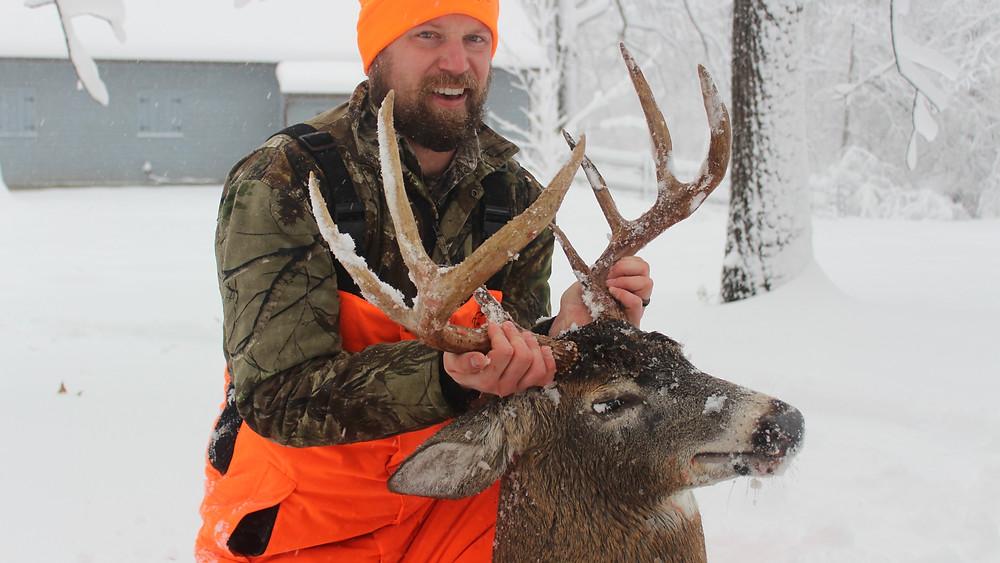 Whitetail Deer buck hunter
