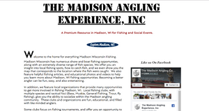 Fishing guide website design by angling design