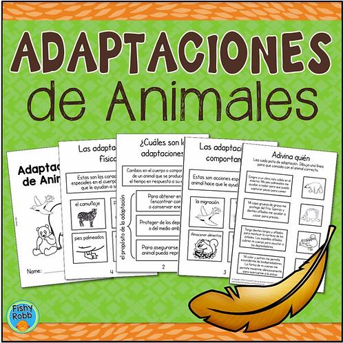 Adaptaciones de Animales (Animal Adaptations) Interactive Book in Spanish