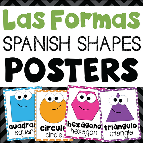 Las Formas Spanish Shapes Posters