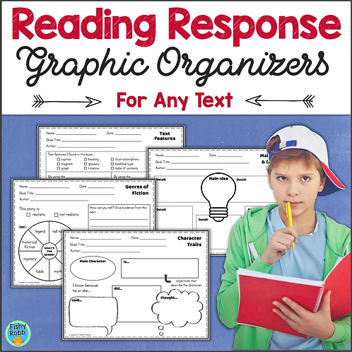 Reading Response Graphic Organizers for Fiction and Non-Fiction
