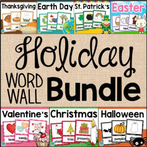 Holiday Word Wall BUNDLE