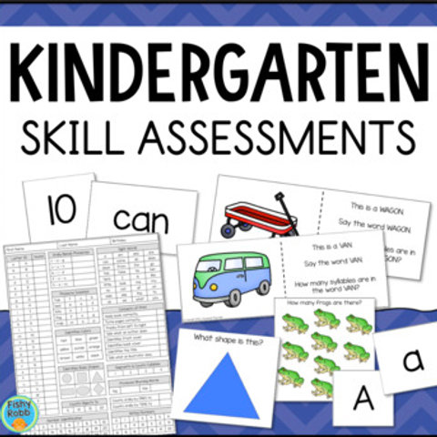 Kindergarten Skills Checklist & Assessments for Math & Reading