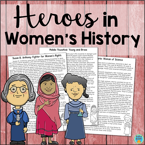 Women's History Comprehension: Malala Yousafzai, Susan B ...