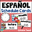 Thumbnail: Spanish Daily Schedule Cards