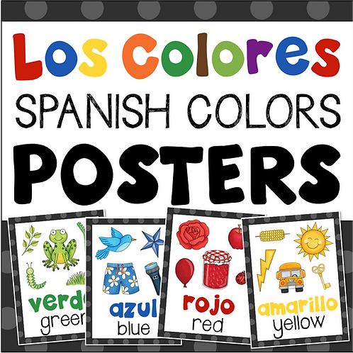 Los Colores Spanish Colors Posters