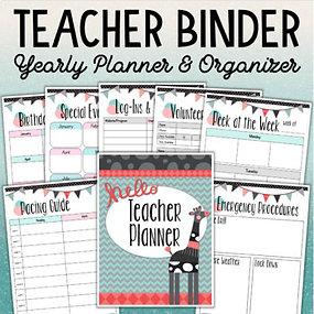 Teacher Binder Yearly Organizer