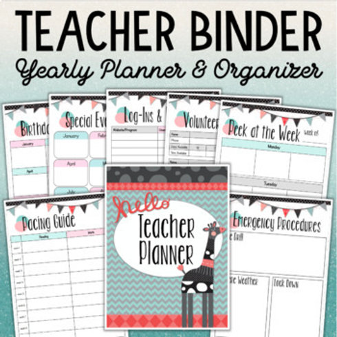 Teacher Binder Yearly Organizer