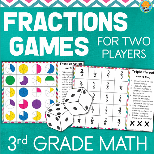 Fractions Games for Two Players